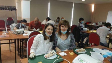 Наш врач Алешина Людмила Григорьевна на мастер-классе по дентальной имплантации