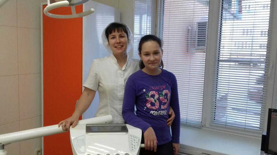 Наша любимая пациентка со своим  доктором Климовой Евгенией Николаевной